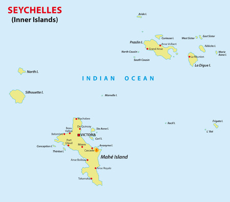 africa maps: seychelles map Illustration