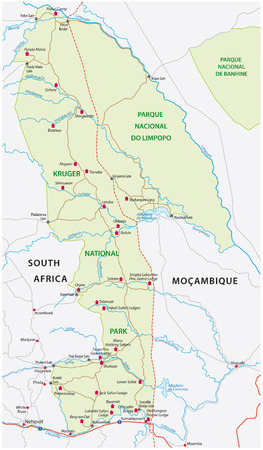 kruger national park: kruger national park map