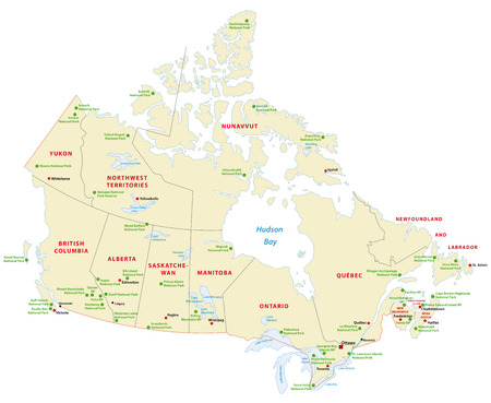 canada national park map Ilustrace