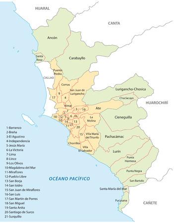 lima province: lima administrative map