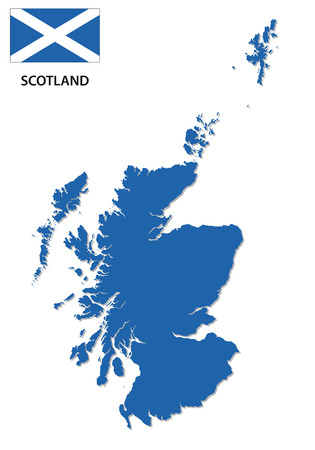scotland map with flag