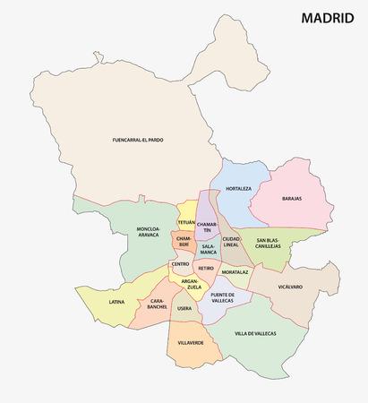 metropolitan: madrid administrative map
