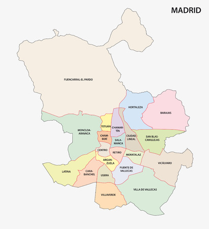 madrid: madrid administrative map