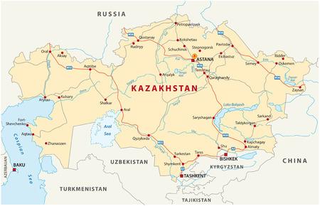 kazachstan wegenkaart
