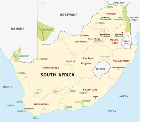 Afrique du Sud Carte du parc national Banque d'images - 34472492