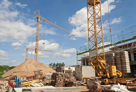 building under construction Foto de archivo