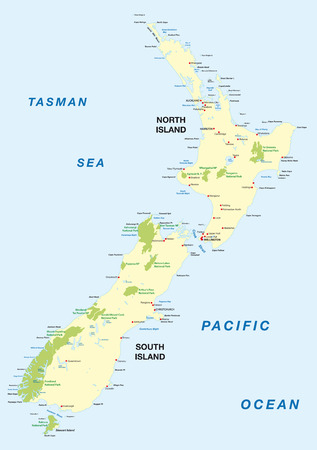 national park: new zealand national park map