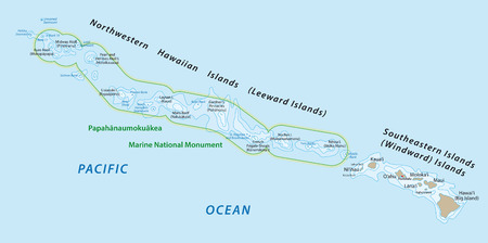 northwestern: hawaiian islands map