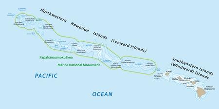 windward: hawaiian islands map