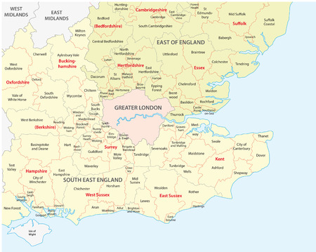 south west england: south west england administrative map