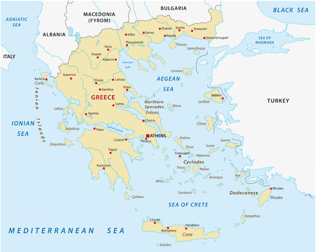greece: greece map