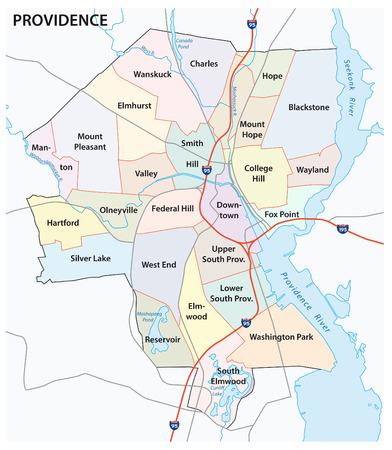 providence road and neighborhood map Ilustração