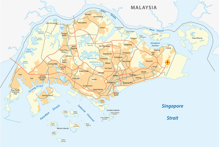 Administrative Divisions Of Singapore Royalty Free Cliparts Vectors