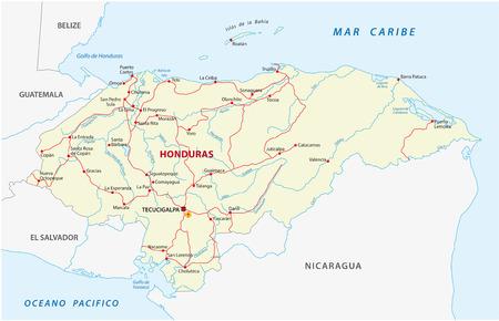 Honduras Administrative Map Royalty Free Cliparts Vectors And