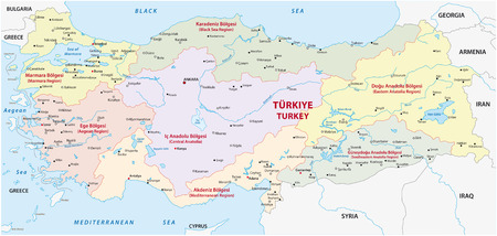 bursa: tutkey regions map