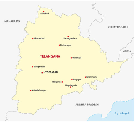 bengals: Telangana map Illustration