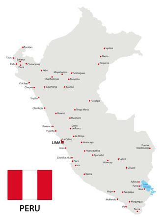 peru map: peru map with flag