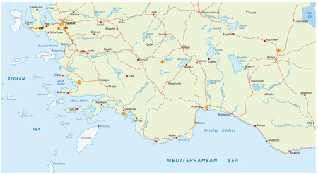 Mykonos Beach And Road Map Royalty Free Cliparts Vectors And Stock
