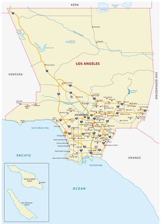 Los Angeles County kaart