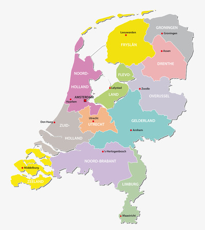 netherlands administrative map