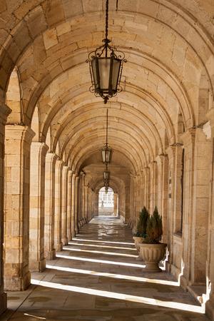 compostela: Cathedral of Santiago de Compostela arcades