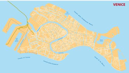 De straat van Venetië kaart
