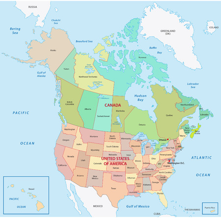 west usa: north america map