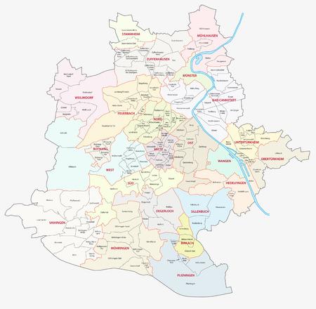 administrativo: mapa administrativo stuttgart