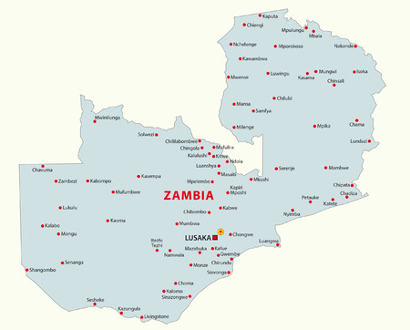 zambia map Illustration