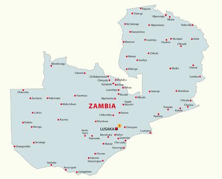 zambia: zambia map Illustration
