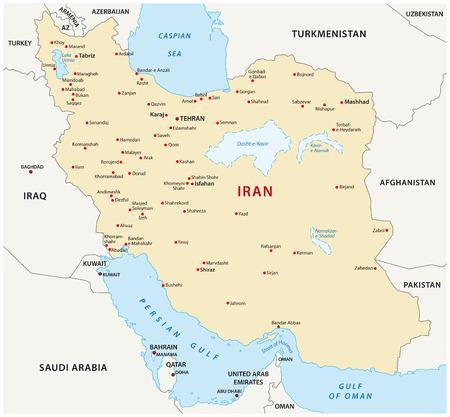gulf: iran map Illustration