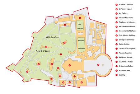 バチカン市国地図
