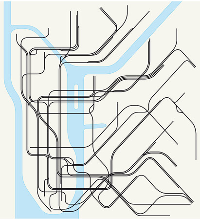 ニューヨークの地下鉄の地図 写真素材 - 38890615
