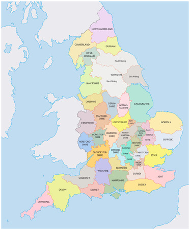 england: historic counties of england map