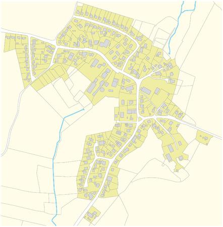 fictional: fictional village map