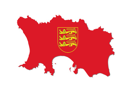 jersey map with coat of arms
