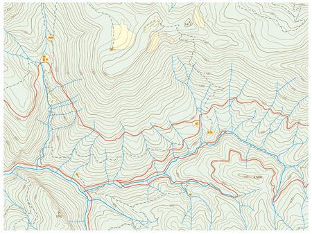Mapa topográfico  Foto de archivo - 39566823