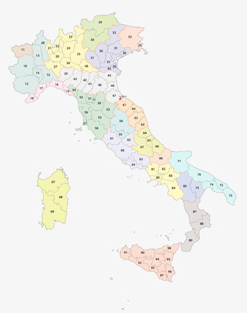 italian postcodes map Stock fotó - 39654468