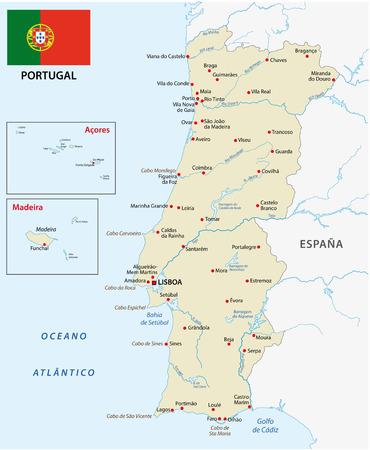 symbole: portugal map with flag