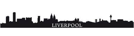 waterfront: Liverpool skyline silhouette