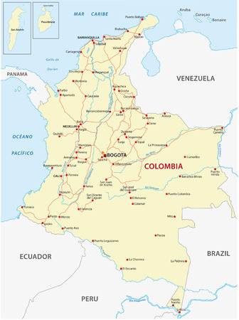 republic of colombia: Colombia road map