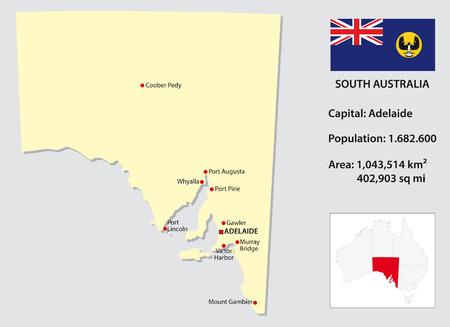 map of australia: South Australia map info