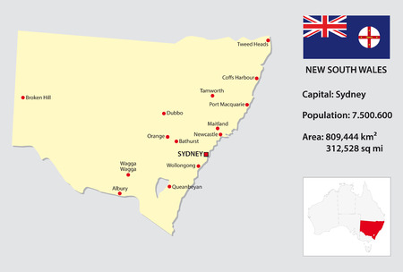 wales: New South Wales map info