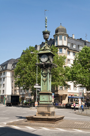 monument historical monument: Frankfurt Ostend Germany in 1894 erected the tower with public clock