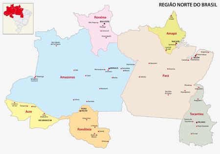 region: Brazil North Region map