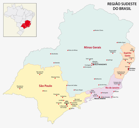 janeiro: Brazil Southeast Region map