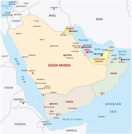 arabian peninsula map,