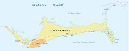 freeport: Grand Bahama map