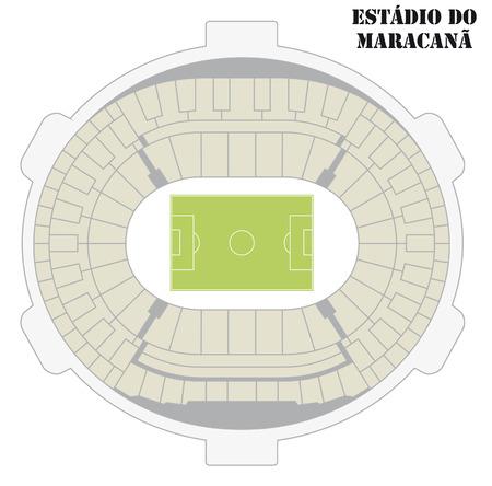 football stadium: Map of the football stadium Maracana in Rio de Janeiro