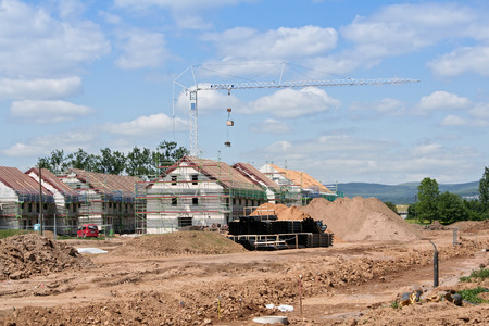 construction sites: housing estate under construction